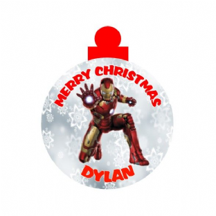 Iron Man Acrylic Christmas Ornament Decoration